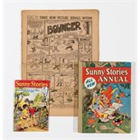 The Bouncer No 1 (1939) with Sunny Stories 29 (1959) and Sunny Stories Annual 1 (1959)