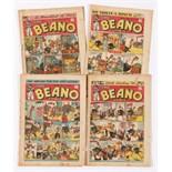 Beano (1944-45) 241, 243, 245, 251. Propaganda war issues. [vg-/vg-/vg/gd] (4)