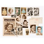Shirley Temple 'Real Photograph' postcards (1930s-40s) 15 postcards, (1 with original LA envelope)