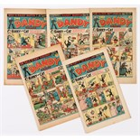 Dandy (1948-49) 377, 379, 380, 381, 401. First Slave Of The Magic Lamp by Fred Sturrock [vg/fn] (5)