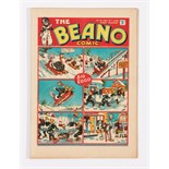 Beano No 19 (1938). Bright, fresh covers 2mm trim to RH cover edge, cream pages. Only a few copies