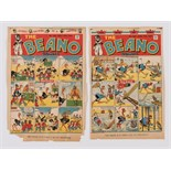 Beano 286, 288 (1946) D.C. Thomson front cover printer's proofs with 'Press ink on Newsprint'