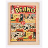 Beano No 6 (1938). Good cover colours, one inch horizontal spine tear going through all (light
