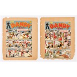 Dandy 97, 98 (1939) D.C. Thomson front cover printer's proofs signed off by Beano editor, George
