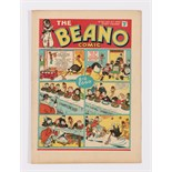 Beano No 26 (1939). Bright, fresh covers, cream pages, light vertical cover crease [vfn]