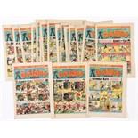 Dandy (1945) 283-308 Xmas. Complete year (issued fortnightly). Propaganda war issues. 284, 286 First
