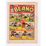 Beano No 3 (1938). Bright cover colours with 2 x 1½ ins margin tears and 2 ins horizontal spine tear