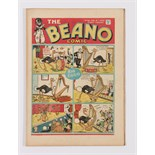Beano No 28 (1939). Bright, fresh covers, cream pages, neatly repaired tear to pg 17 [fn+]