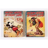 Mickey Mouse in Giant Land (1934) with Mickey Mouse in Pigmy Land (1935). Bright covers, worn
