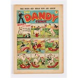 Dandy No 39 (1938). First robot comic strip with Glasgow Harry and the Smasher by James Walker.