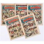 Dandy (1941) 174 April Fool, 175, 179, 180, 181 U-Boat surrender cover. Propaganda war issues [