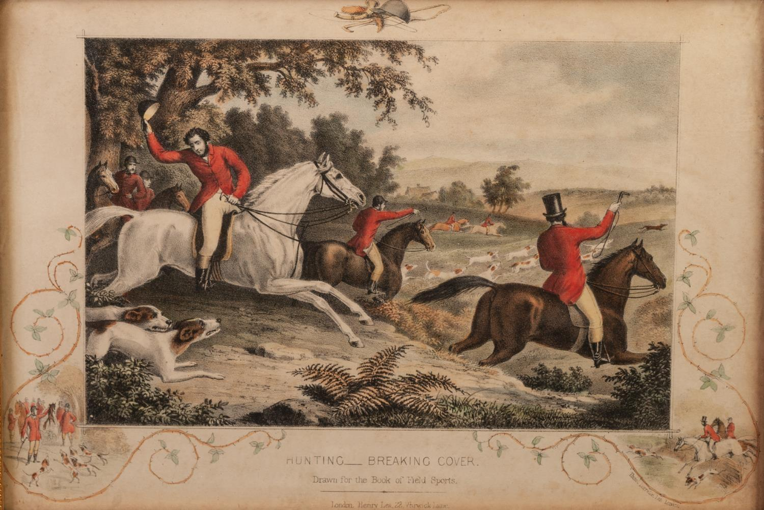 Lot 387 - FROM THE ?BOOK OF FIELD SPORTS? THREE LATE NINETEENTH CENTURY COLOURED LITHOGRAPHS ?A Sharp Look-
