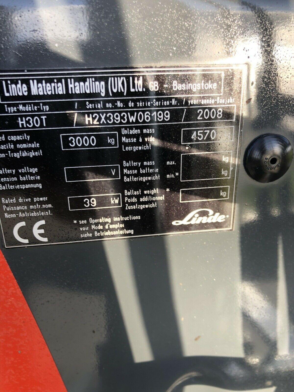 Linde H30t Gas Forklift - Image 4 of 7
