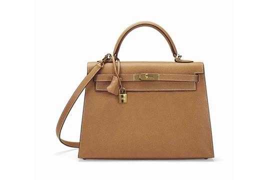 birkins handbags - SAC KELLY SELLIER 32 EN VACHE LI��G��E NATURELLE, GARNITURE EN M��TAL ...