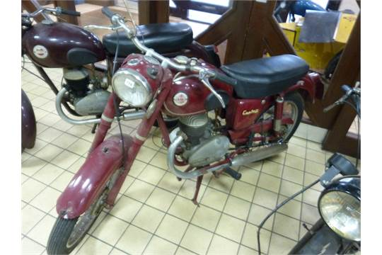 A 1958 JAMES CAPTAIN 200 MOTORBIKE, 197cc Villiers petrol engine