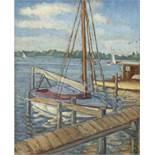 "Edler, Fritz (1894-1994 Berlin) ""Yachthafen am Wannsee"", Öl/SH, monogr. u. dat. '33 u.l.,rücks."