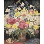 "Mißfeldt, Friedrich ""Sommerblumen"", Öl/SH, verso Künstlerstempel, 48x38 cm, Rahmen"