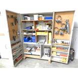 Cabinet with tools