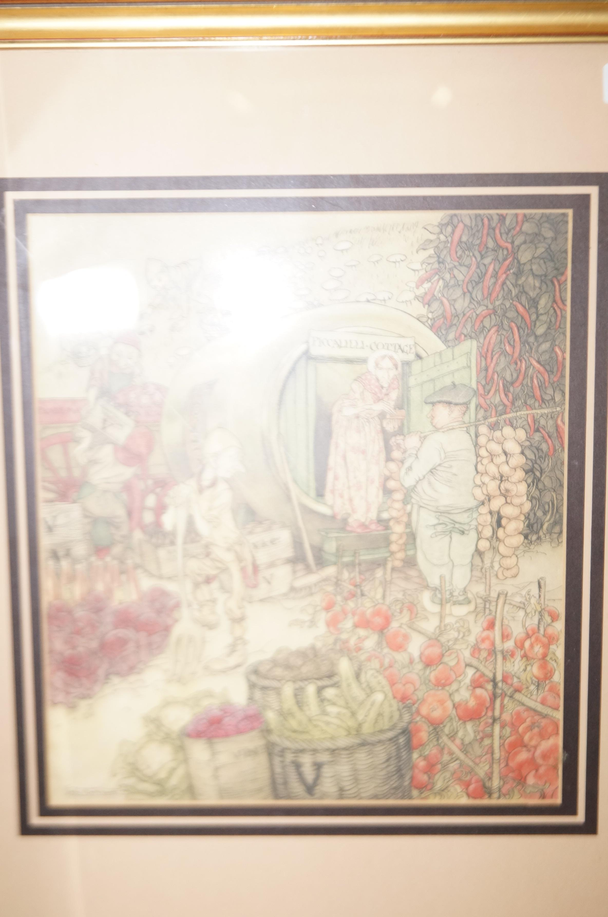 Lot 33 - Framed print Mr & Mrs Vinegar