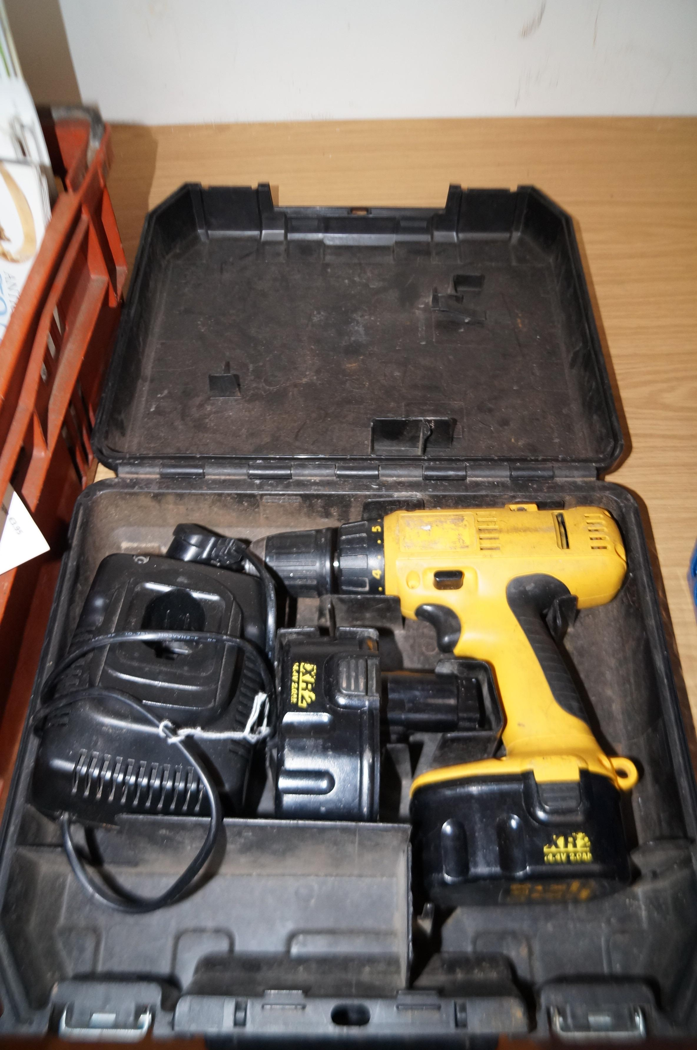 Lot 12 - Cased Dewalt drill