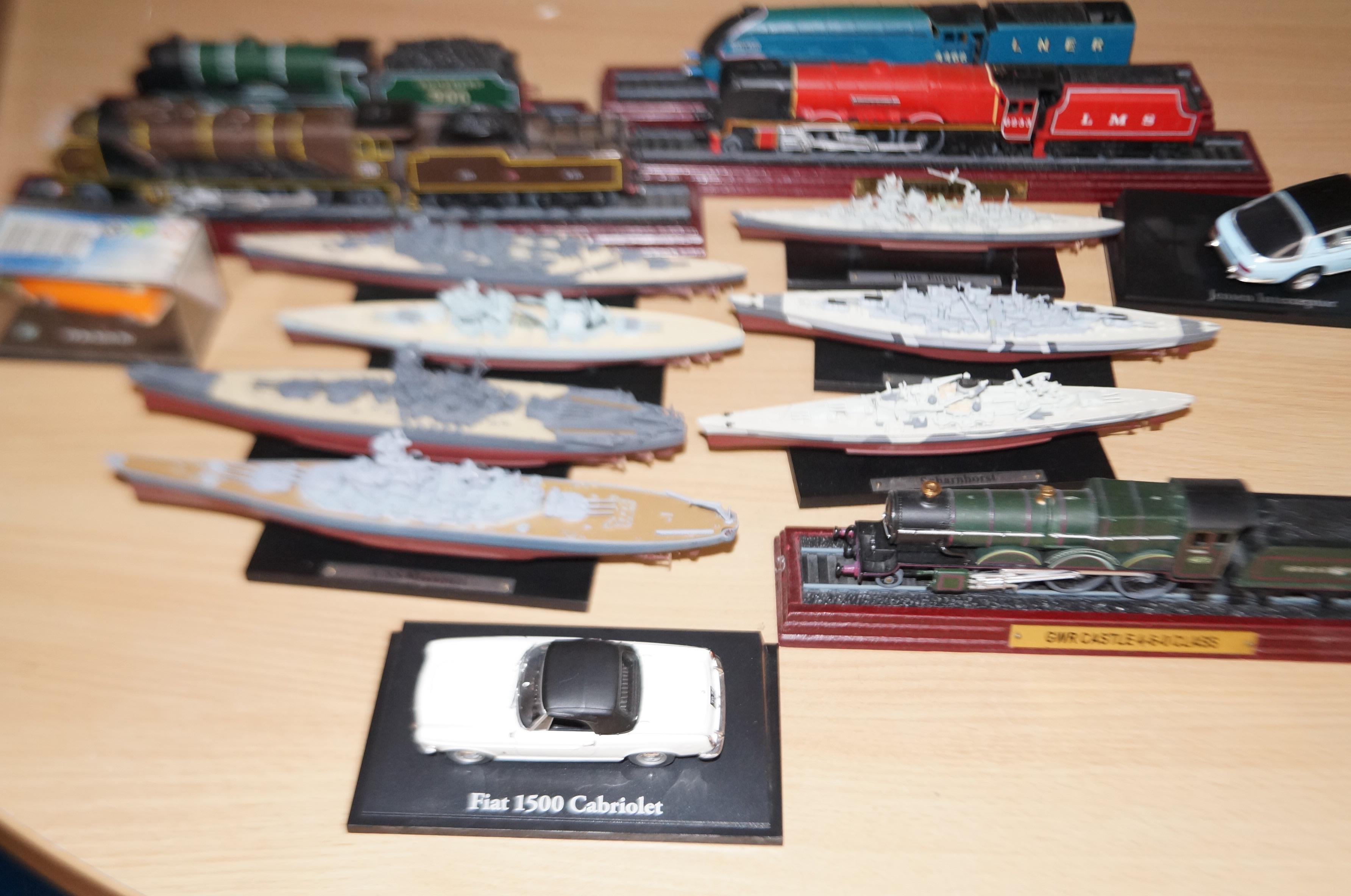 Lot 17 - Group of model vehicles trains & ships ect