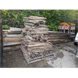 LARGE QTY OF ASSORTED LUMBER & STAKES