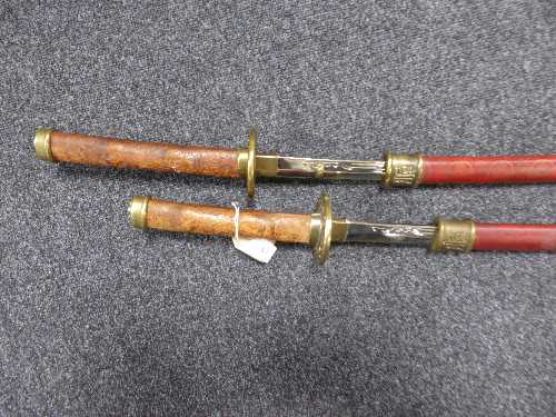Lot 19 - Two Japanese style samurai swords