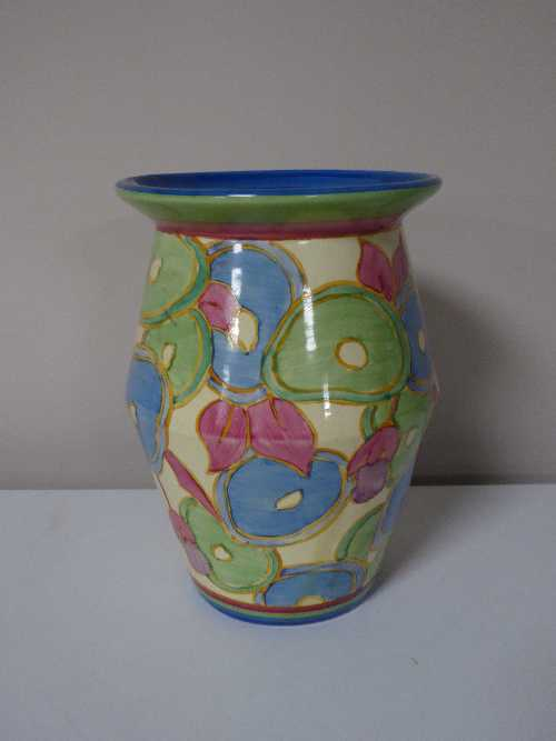 Lot 16 - A Clarice Cliff blue chintz pattern vase, height 20 cm.