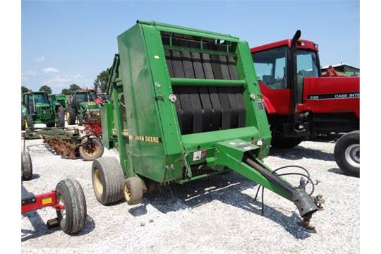 JD 535 Round Baler Net Wrap, w/JD Monitor in the Shed