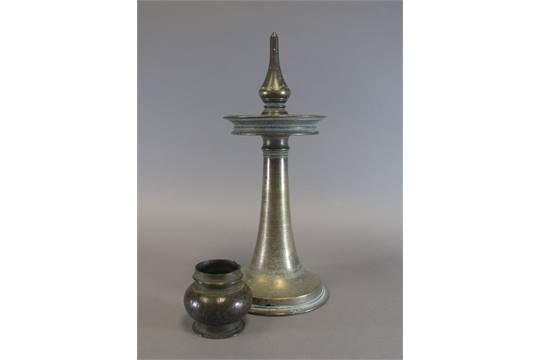 AN OIL LAMP AND A SMALL POT Kerala