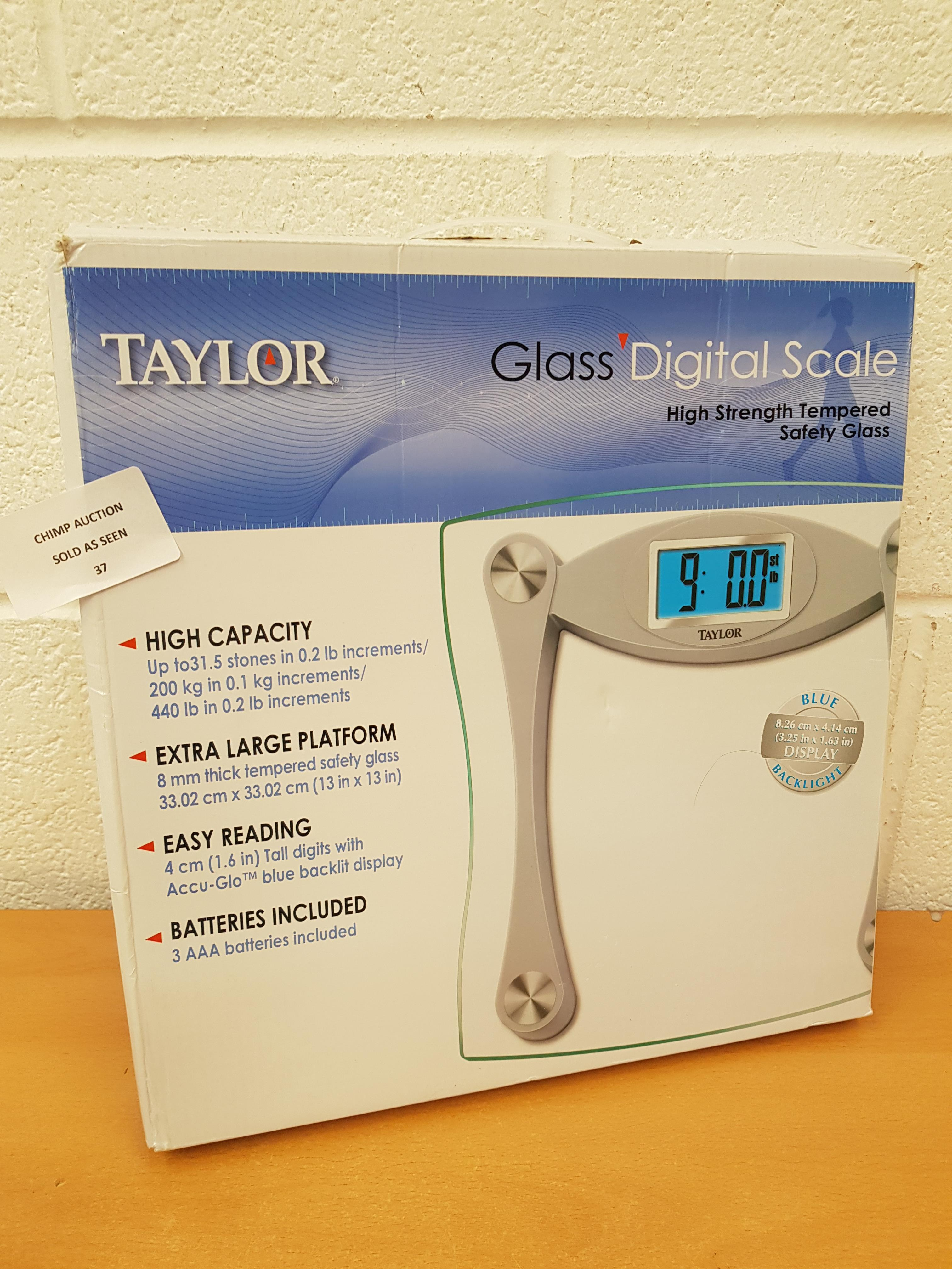 Lot 37 - Taylor Glass Digital Scale