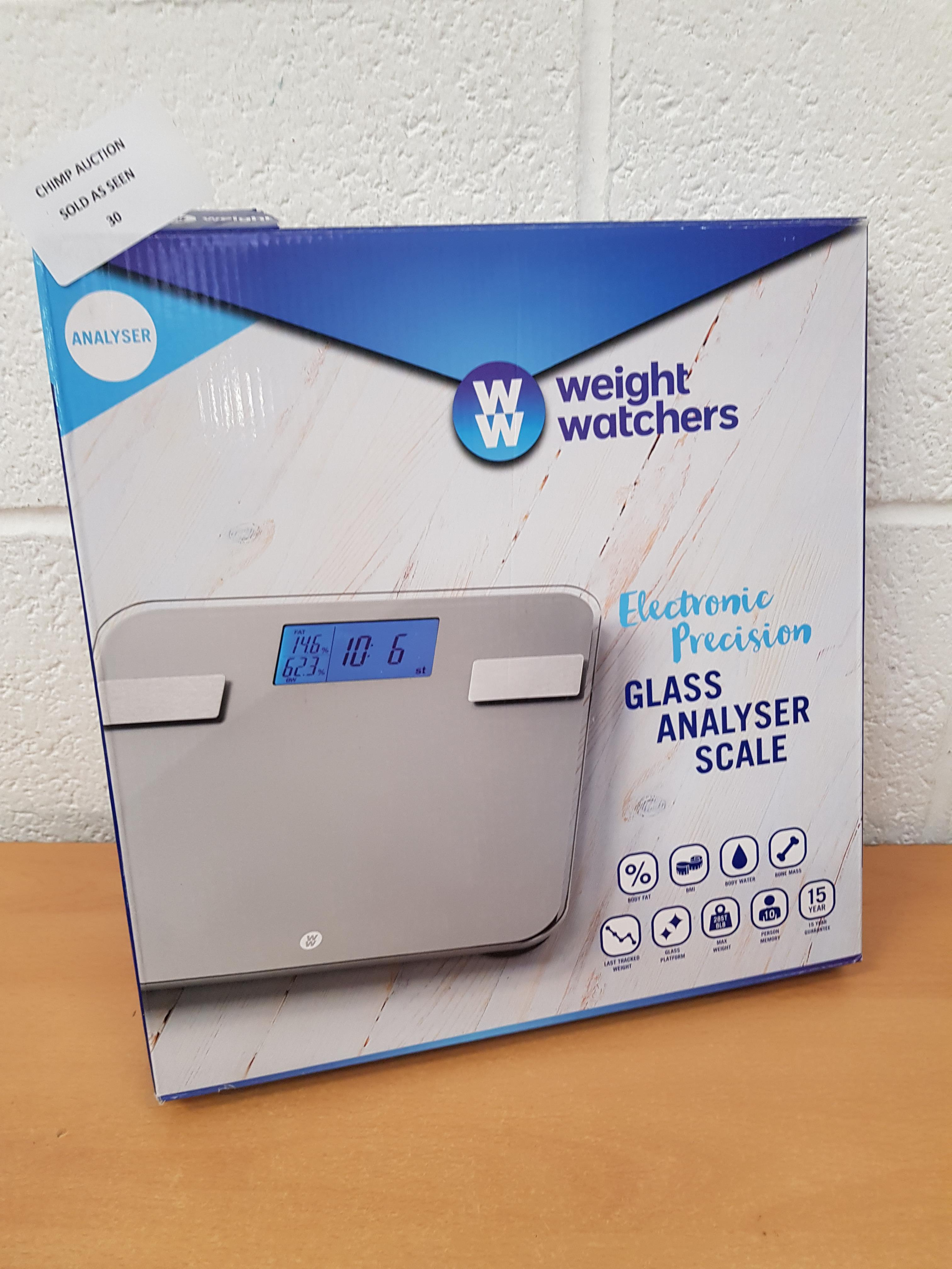 Lot 30 - Weight Watchers Glass Analyser Scale