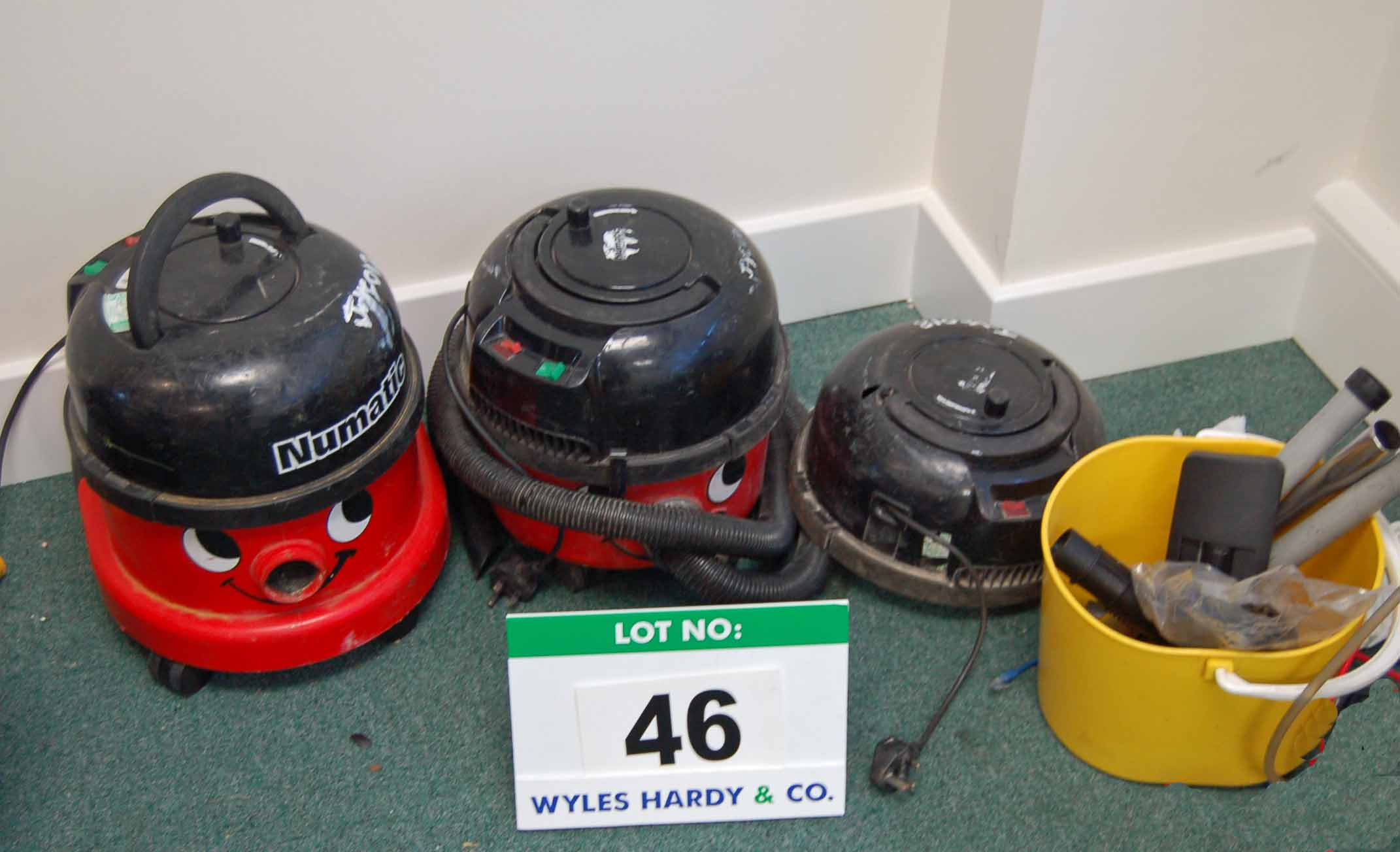 A Quantity of NUMATIC Henry Vacuum Cleaner Used Spare Parts and Accessories (As Photographed)