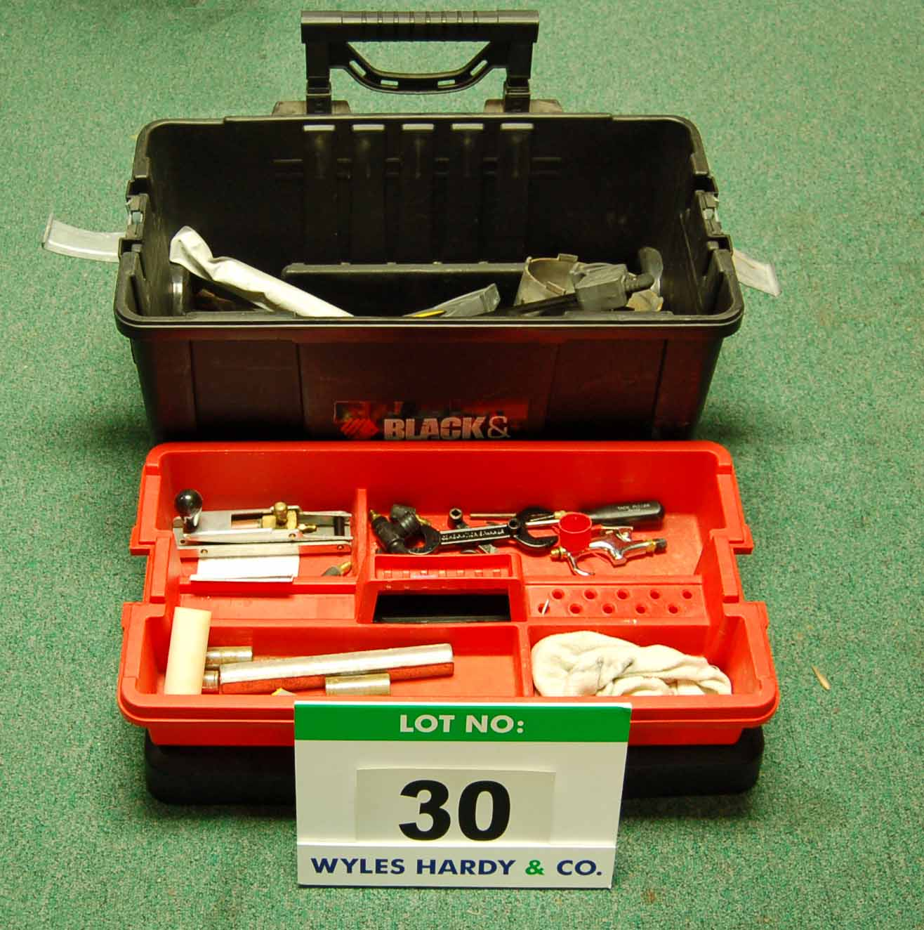 Lot 30 - A Tool Box and Contents (As Photographed)