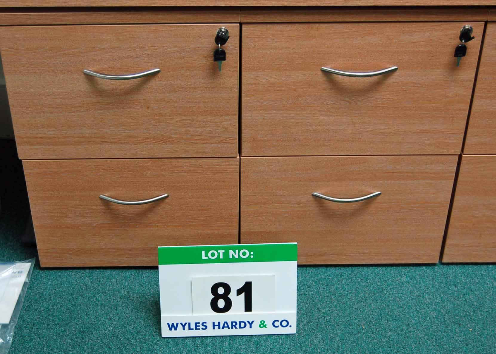 Lot 81 - Two Limed Oak Effect 2-Drawer Filing Cabinets