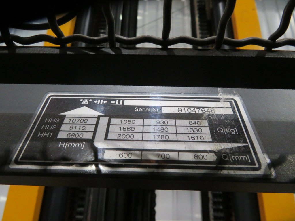 Lot 2 - 2008 JUNGHEINRICH MODEL ETV 320 2000KG ELECTRIC REACH TRUCK