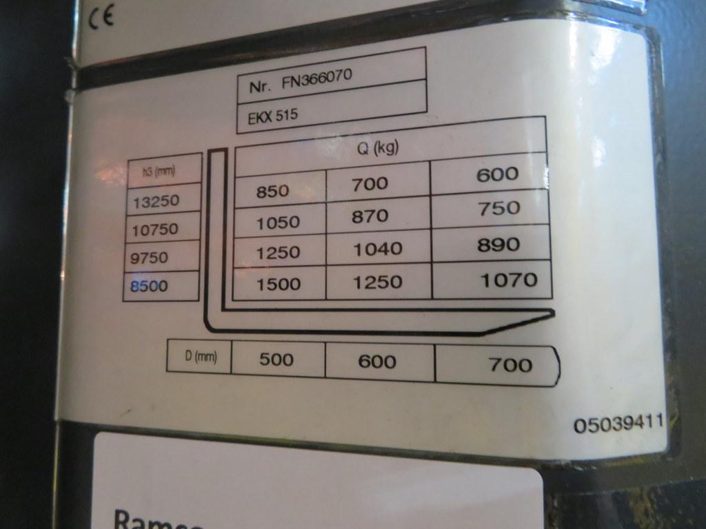 Lot 23 - 2007 JUNGHEINRICH MODEL EKX 515 1500KG ELECTRIC HIGH RACK STACKER TRUCK - NO BATTERY