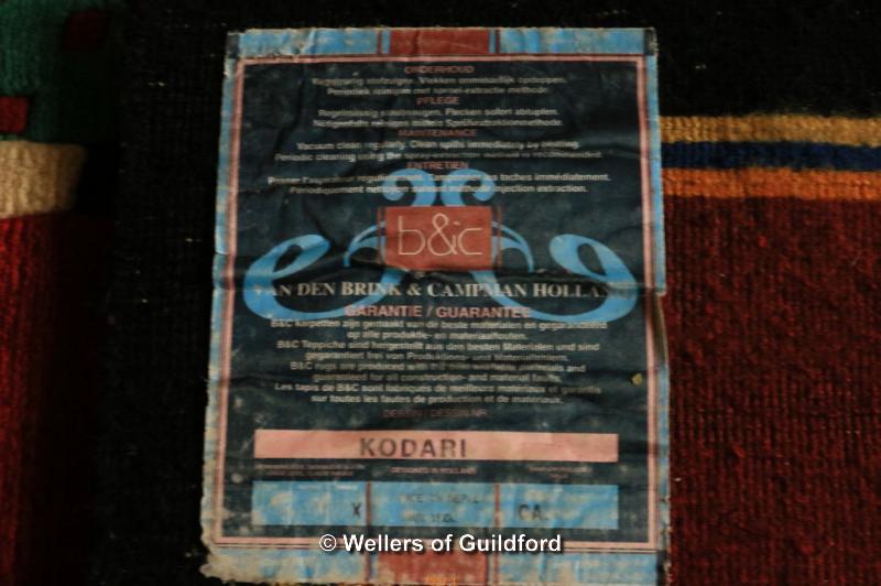 Lot 7628 - A Van Den Brink & Campman Holland 100% wool rug in multi-colours, 170 x 240cm.