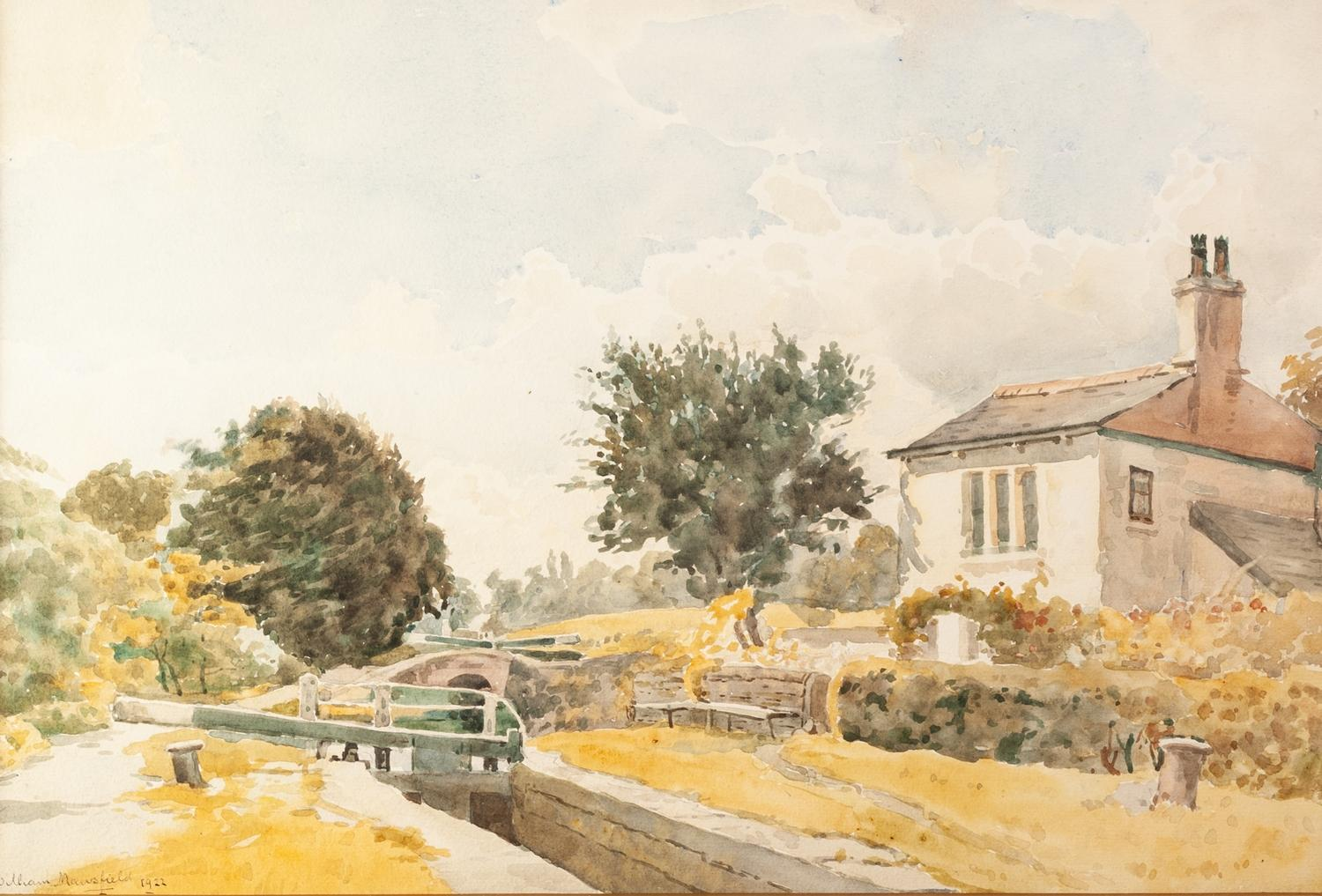 Lot 172 - WILLIAM MANSFIELD (20th Century) Watercolours A pair Morning , Marple Cheshire and The Locks,