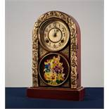 INTER-WAR YEARS DOME TOP MANTEL CLOCK, YUNG KONG CLOCK MANUFACTURERS, CHEFOO N. CHINA, in grained