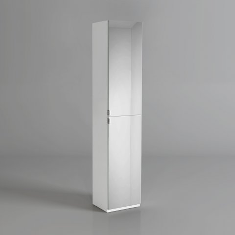 M22 1700x350mm mirrored door matte white tall storage for Floor standing mirrored bathroom cabinet
