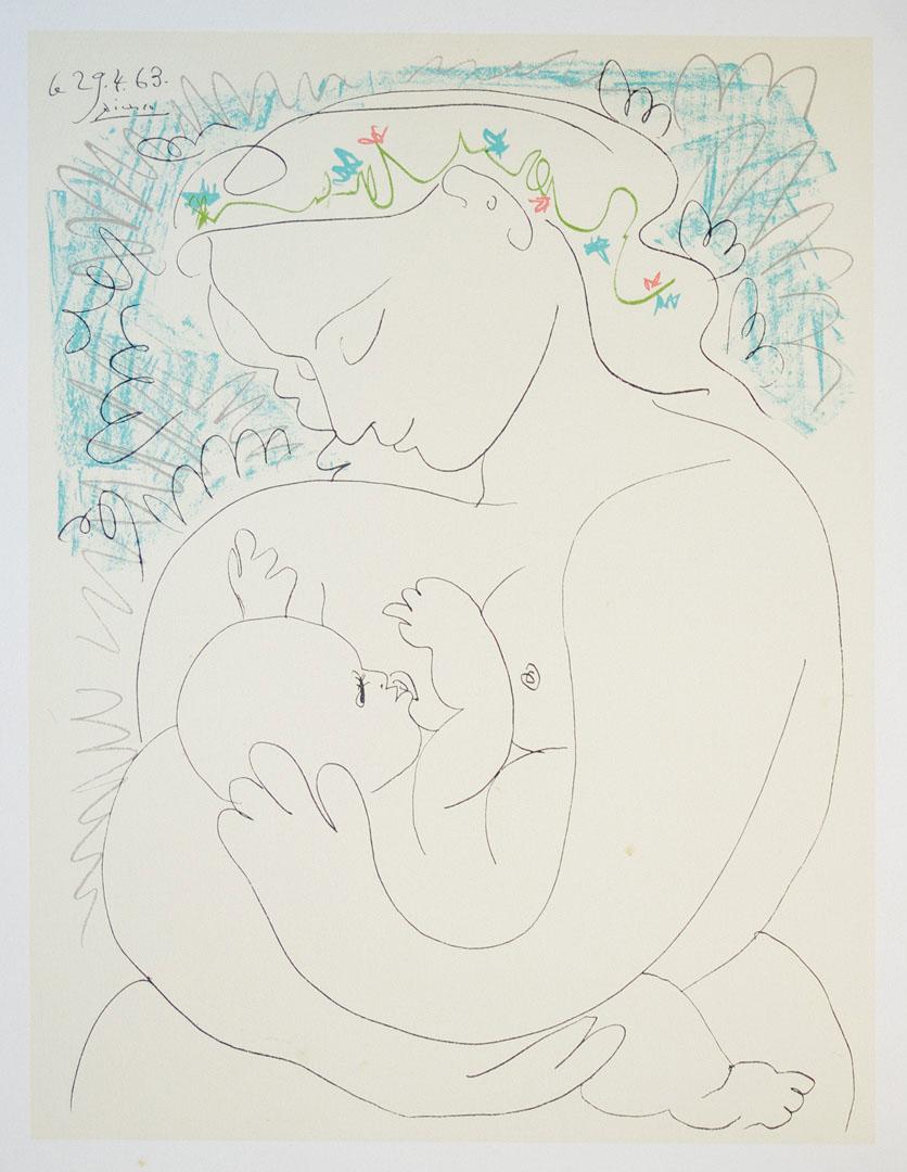 PABLO PICASSO (1881-1973), d\'après La Grande Maternité Lithographie ...