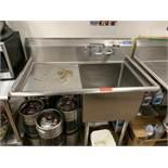 Single Compartment Veggie Sink w/ Left Side Drainbaord by Sapphire, Model: SMS2020L
