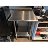 2.5' Stainless Steel Prep Table w/ Lower Stainless Undershelf