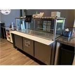 Salad / Sandwich Prep Unit w/ 3 Lower Doors, Glass Sneeze Guard by Beverage Air, Model: SPE72HC-30M,