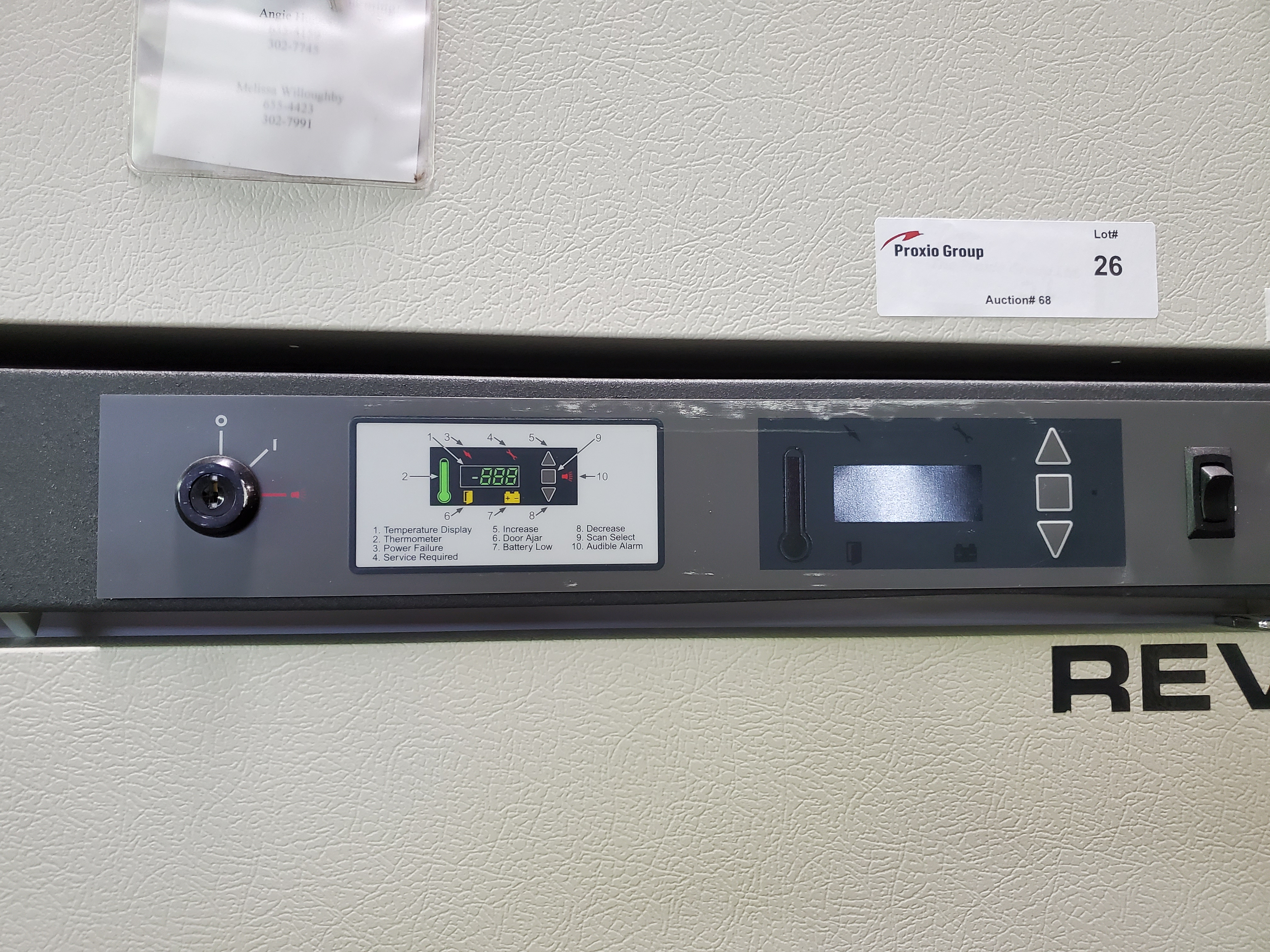 "Revco/Thermo Electron Freezer, model REL5004A21, 53"" wide x 25""deep x 53"" high chamber, R134a - Image 4 of 7"
