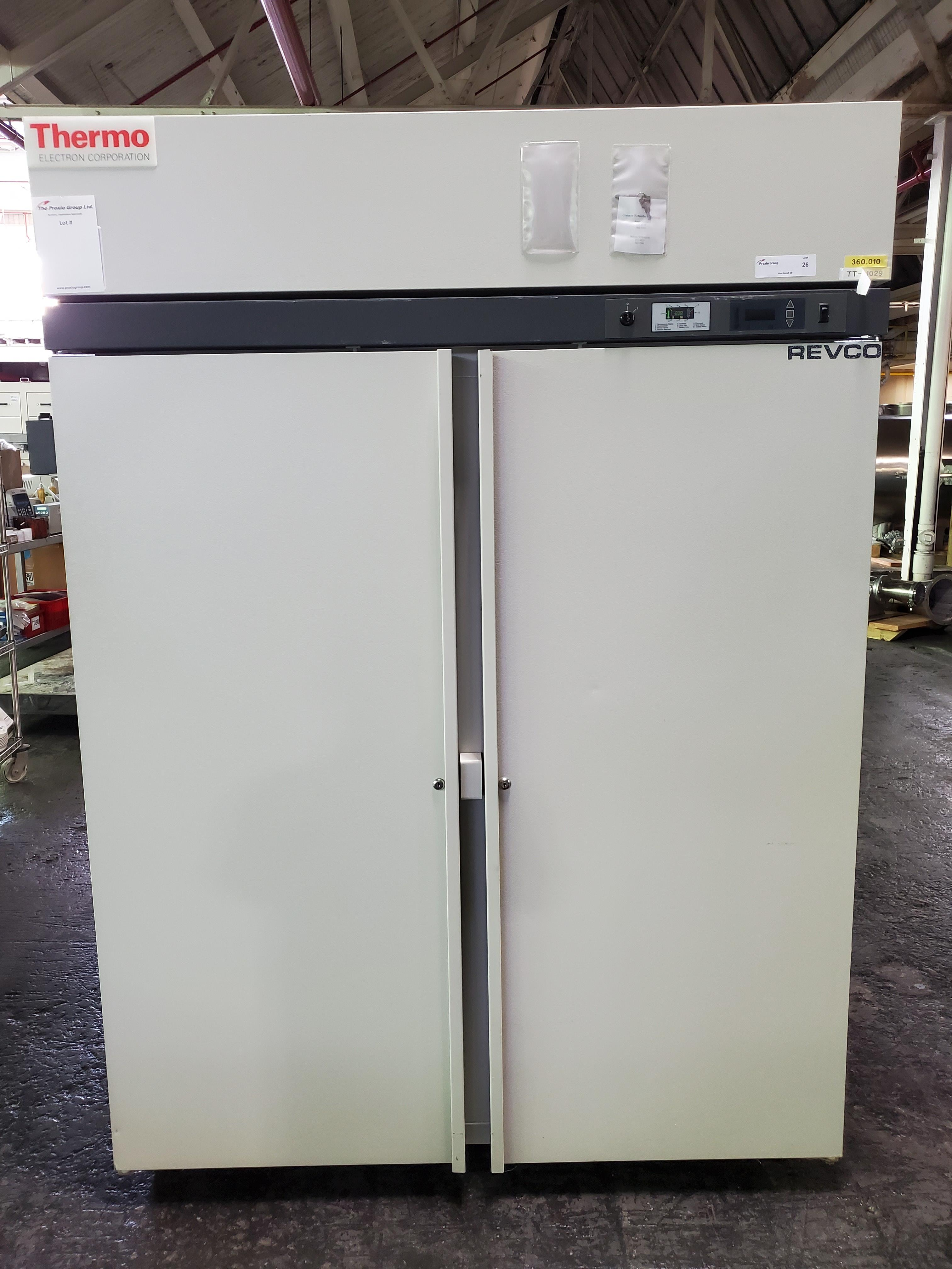"Revco/Thermo Electron Freezer, model REL5004A21, 53"" wide x 25""deep x 53"" high chamber, R134a"