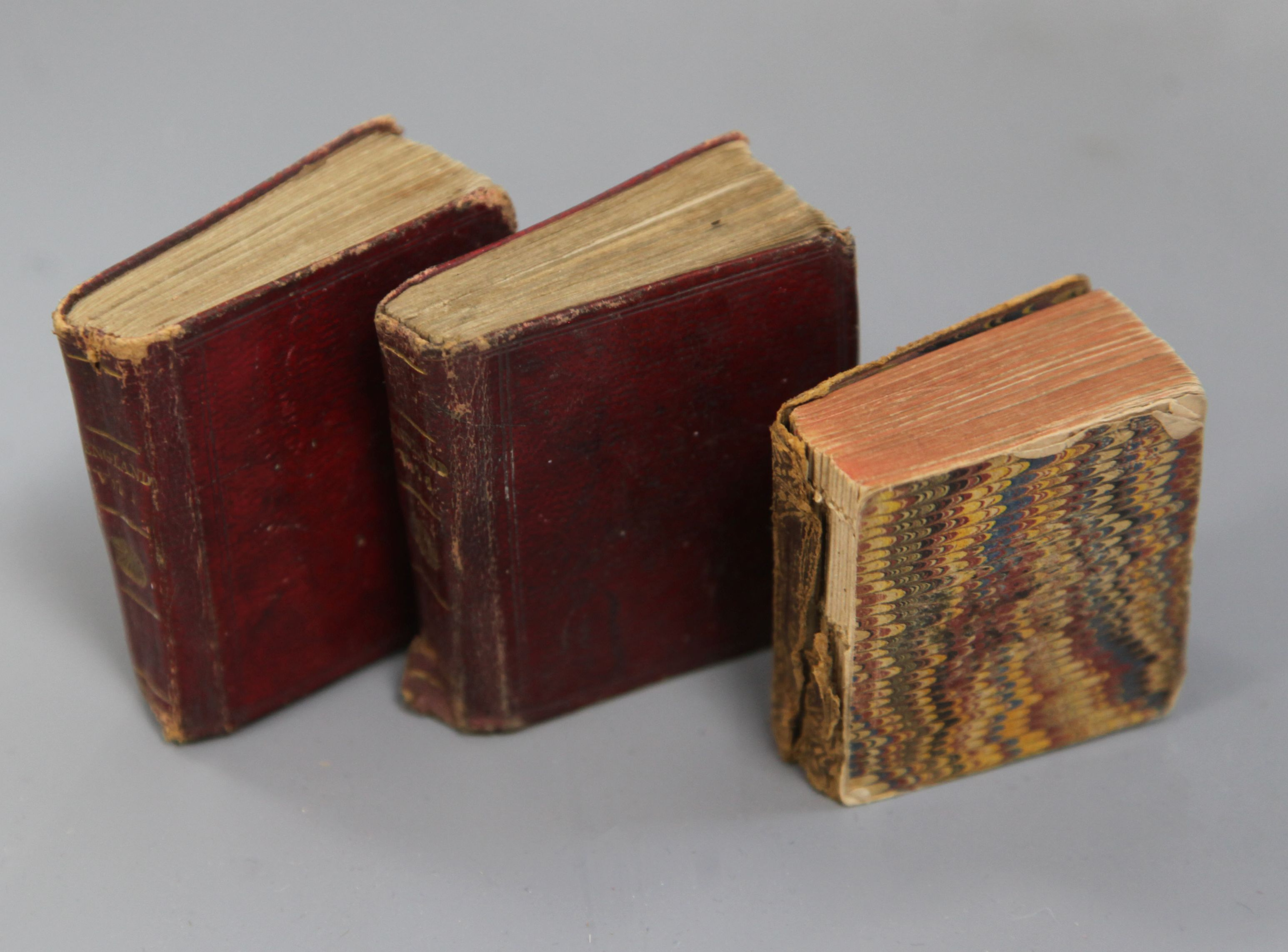 Lot 1 - Miniature Books - Mills, Alfred - Pictures of English History in Miniature, 1st edition, 2 vols,
