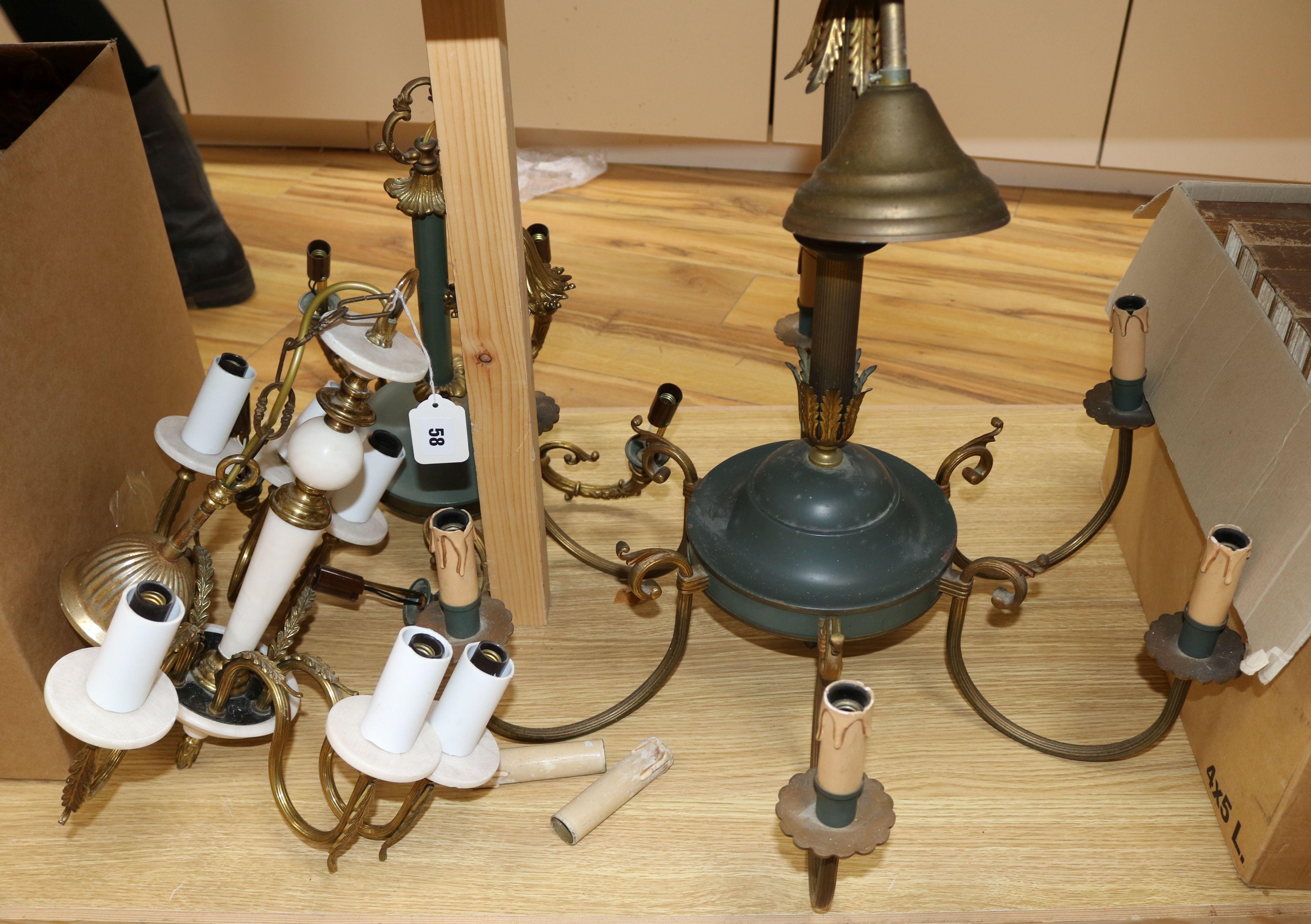 Lot 58 - Three chandeliers