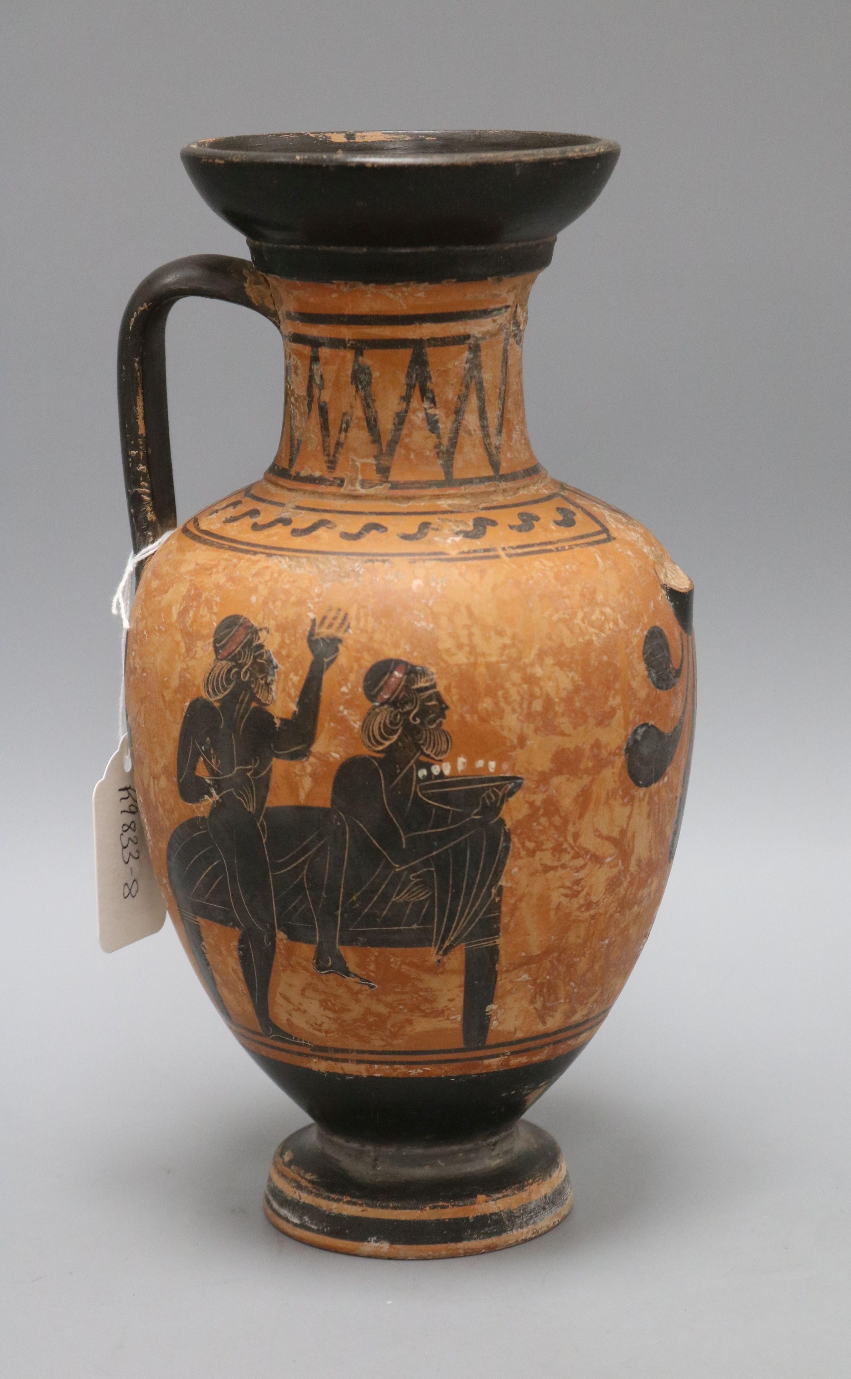 Lot 33 - A Greek Attic style vessel height 28cm (a.f.)